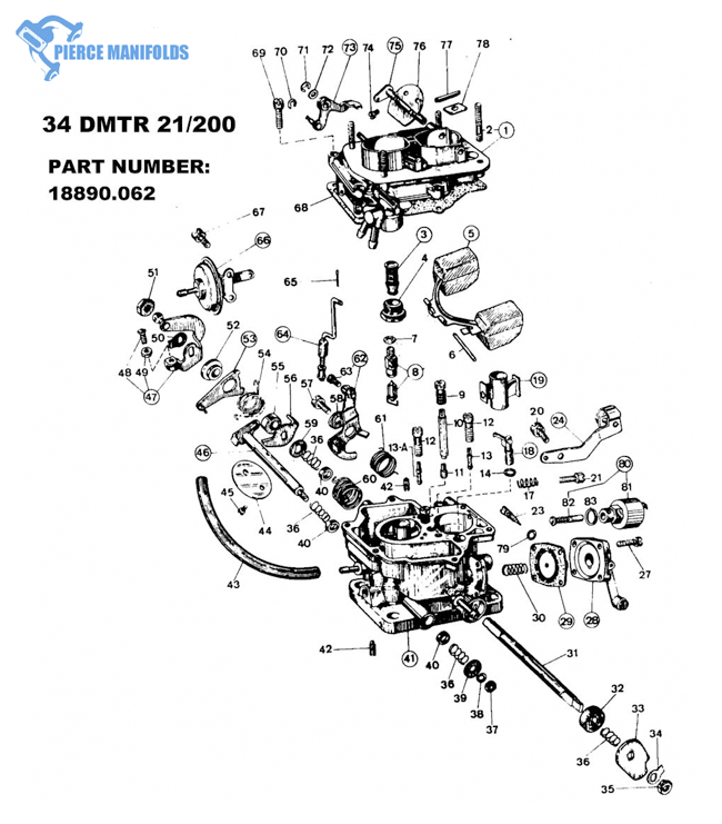 weber carburetor parts diagram