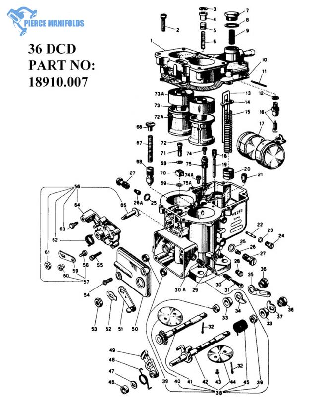 weber carburetor parts diagram