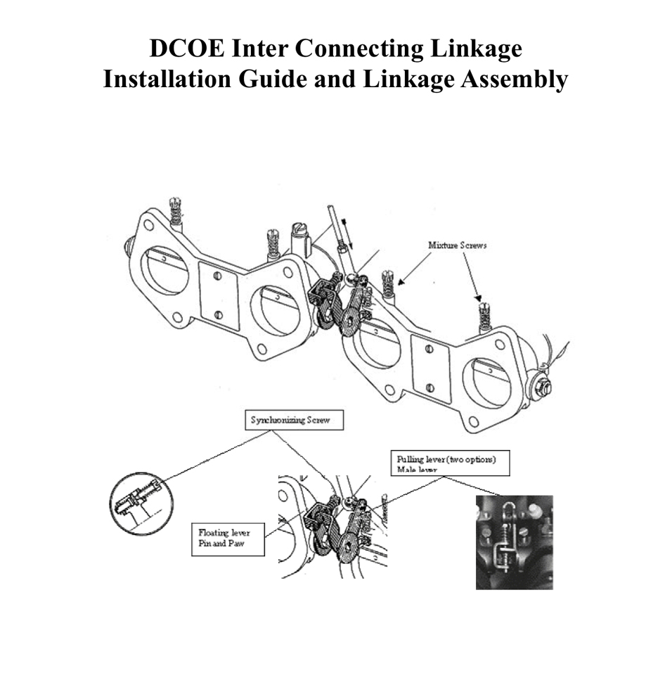 dcoe interconnecting linkage installation guide  u0026 assembly