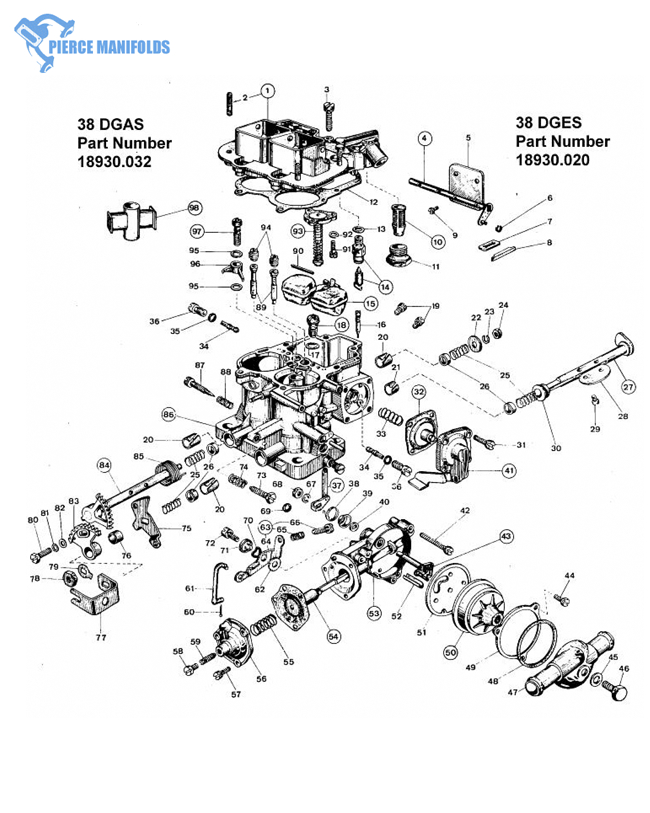 WEBER  32 ICA PUMP DIAPHRAM  FIAT  32 ICA