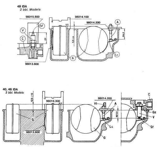 45 48 Dco 38 Dcoe Weber Carburetor Float 42 40 50-55